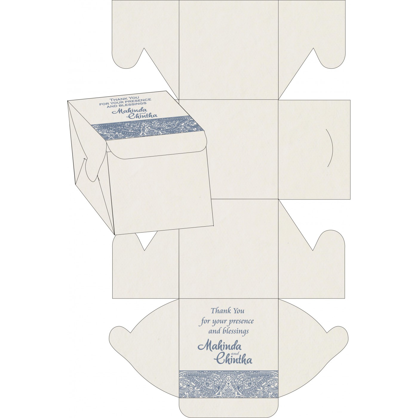 Cake Sweet Boxes : SB-8234J - 123WeddingCards