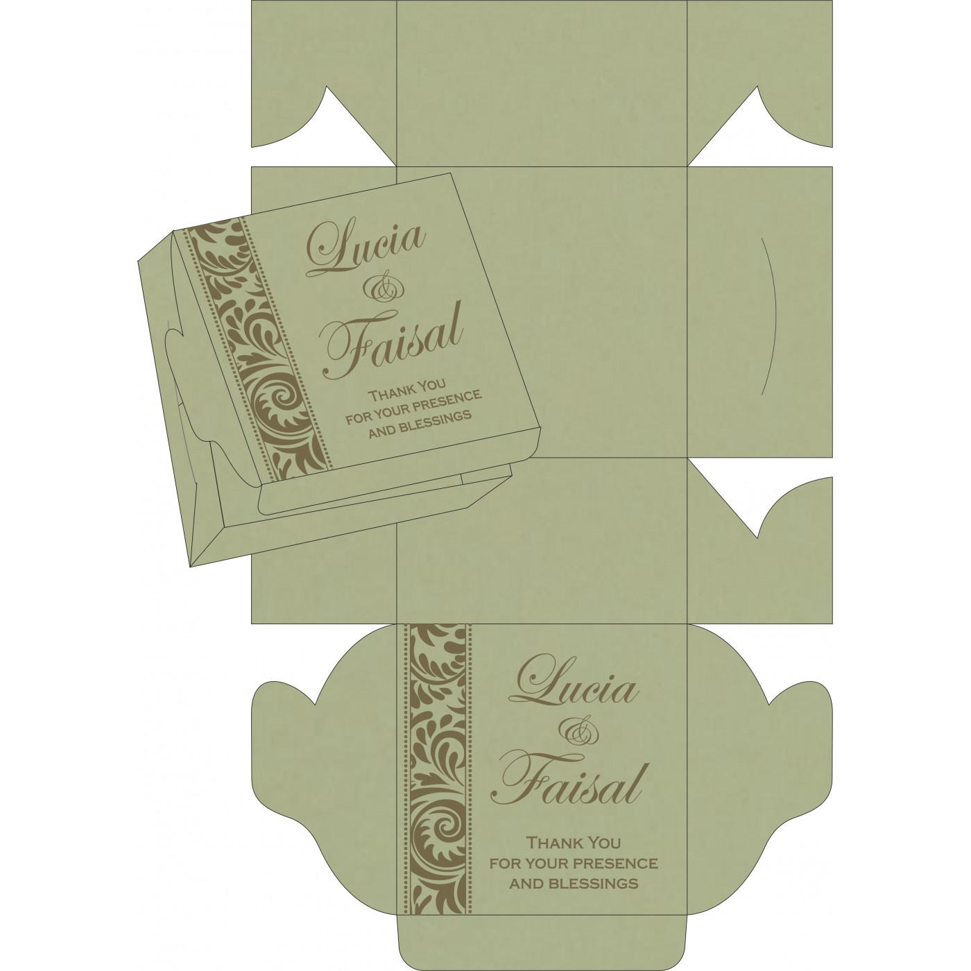 Cake Sweet Boxes : SB-8235A - 123WeddingCards