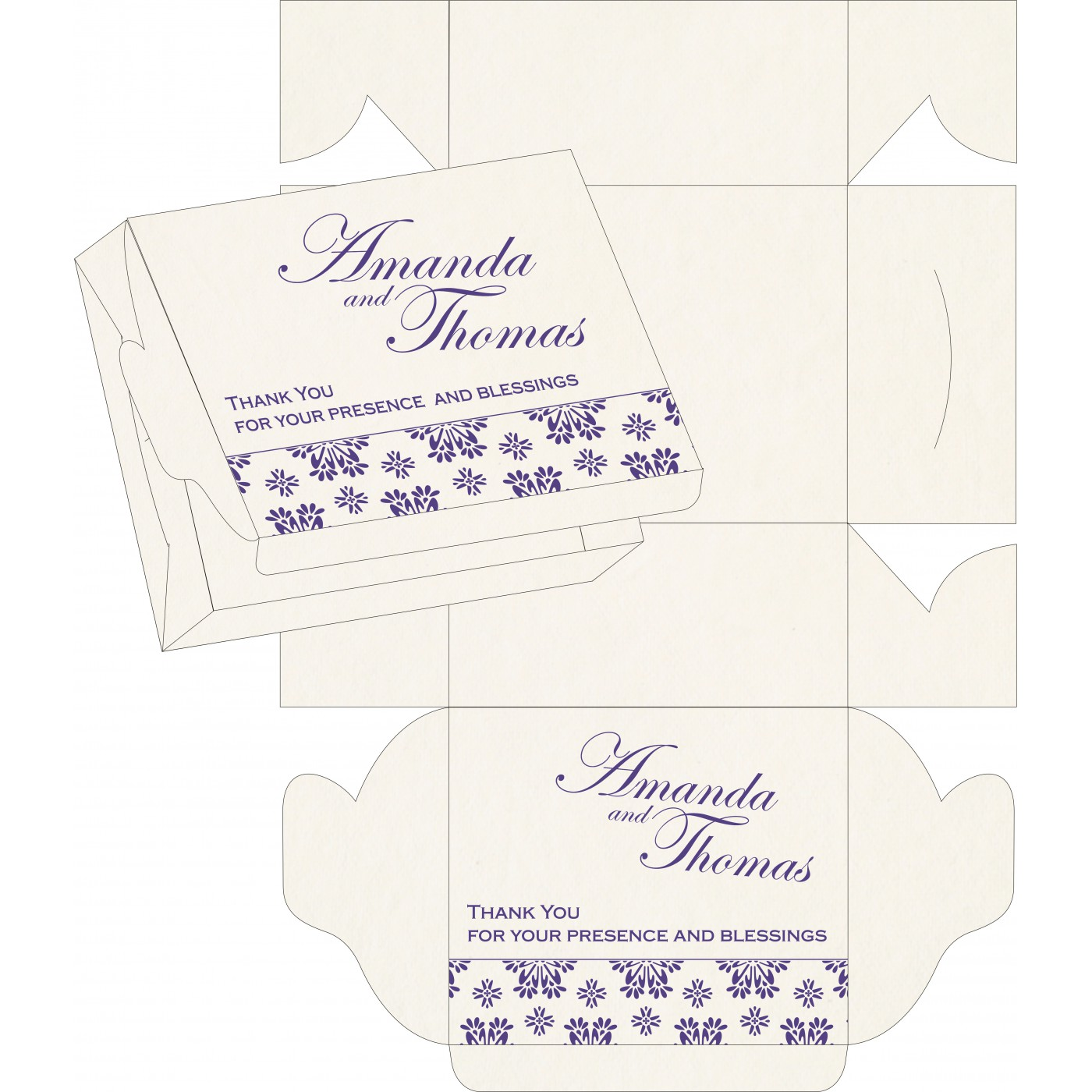 Cake Sweet Boxes : SB-8237A - 123WeddingCards