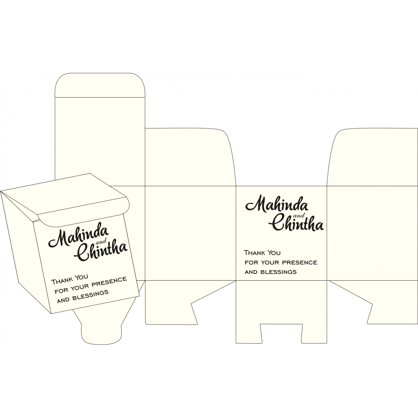 Cake Sweet Boxes : SB-8237H - 123WeddingCards