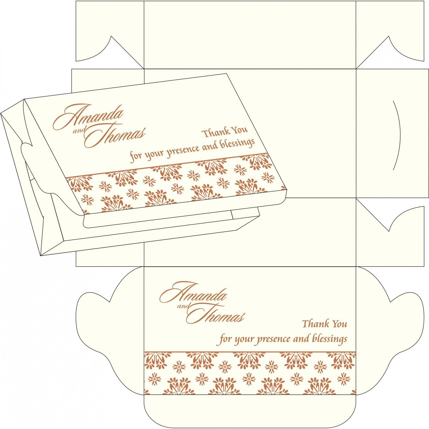Cake Sweet Boxes : SB-8237J - 123WeddingCards