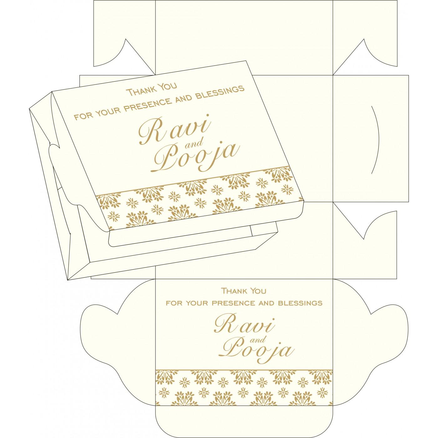Cake Sweet Boxes : SB-8237L - 123WeddingCards