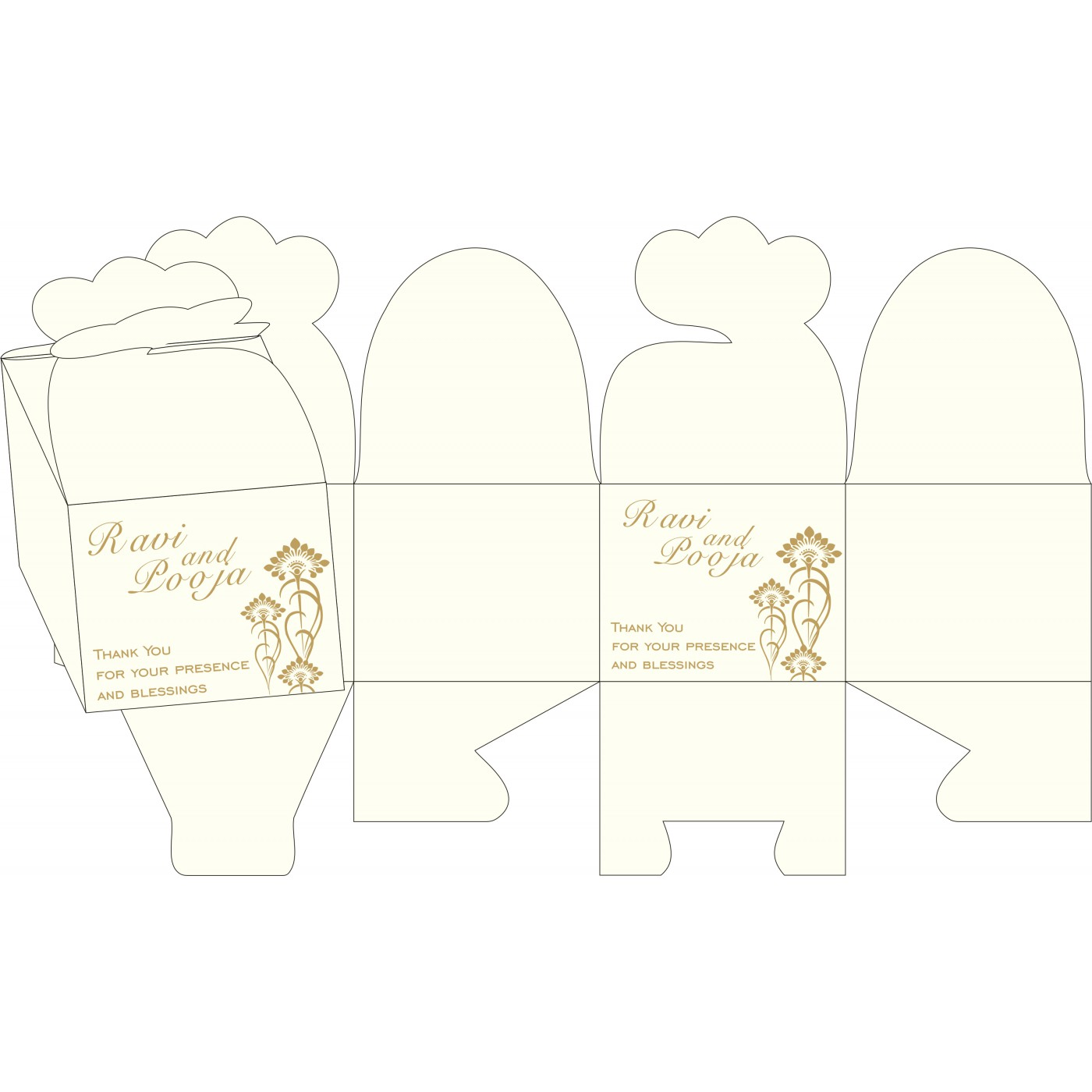 Cake Sweet Boxes : SB-8239H - 123WeddingCards
