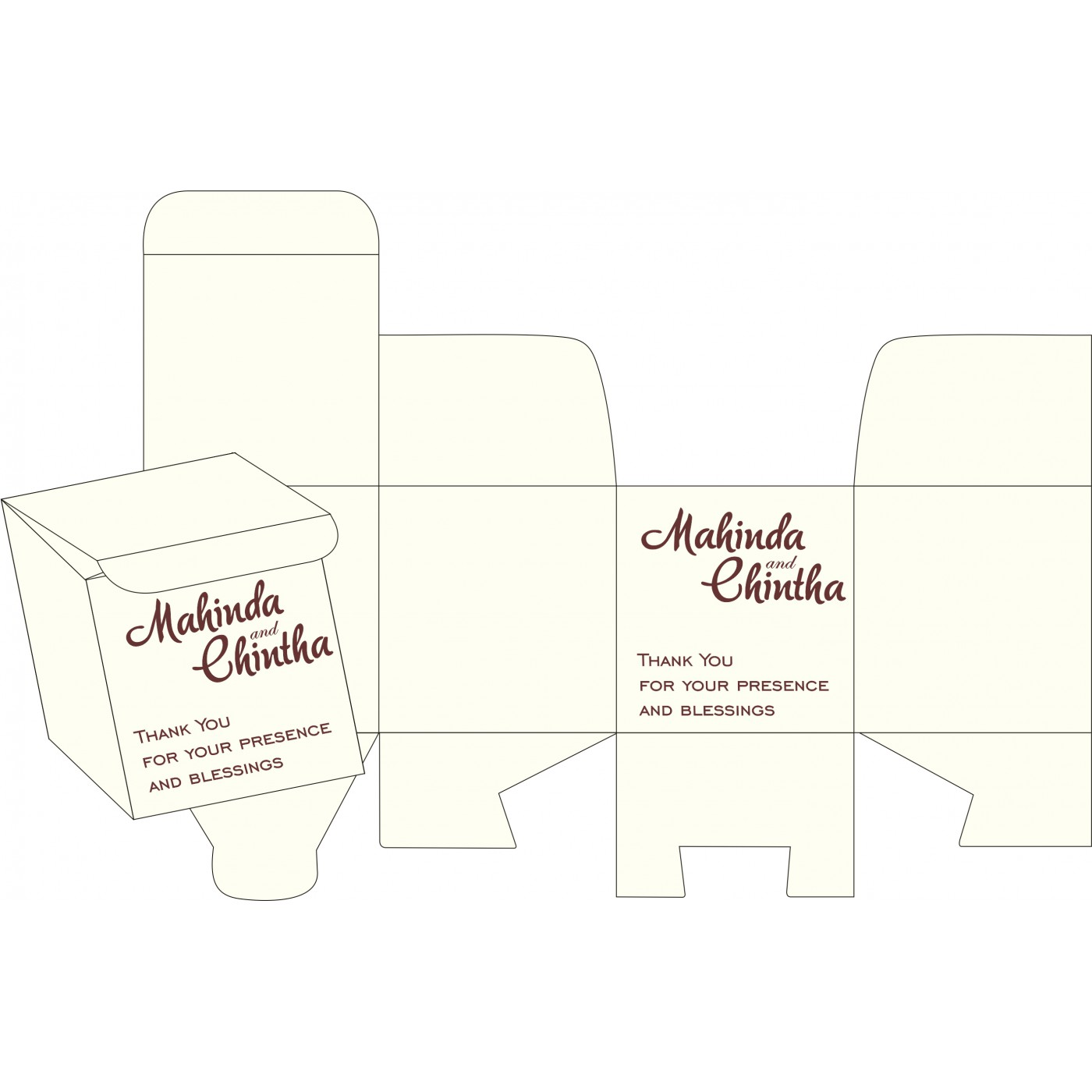 Cake Sweet Boxes : SB-8240E - 123WeddingCards