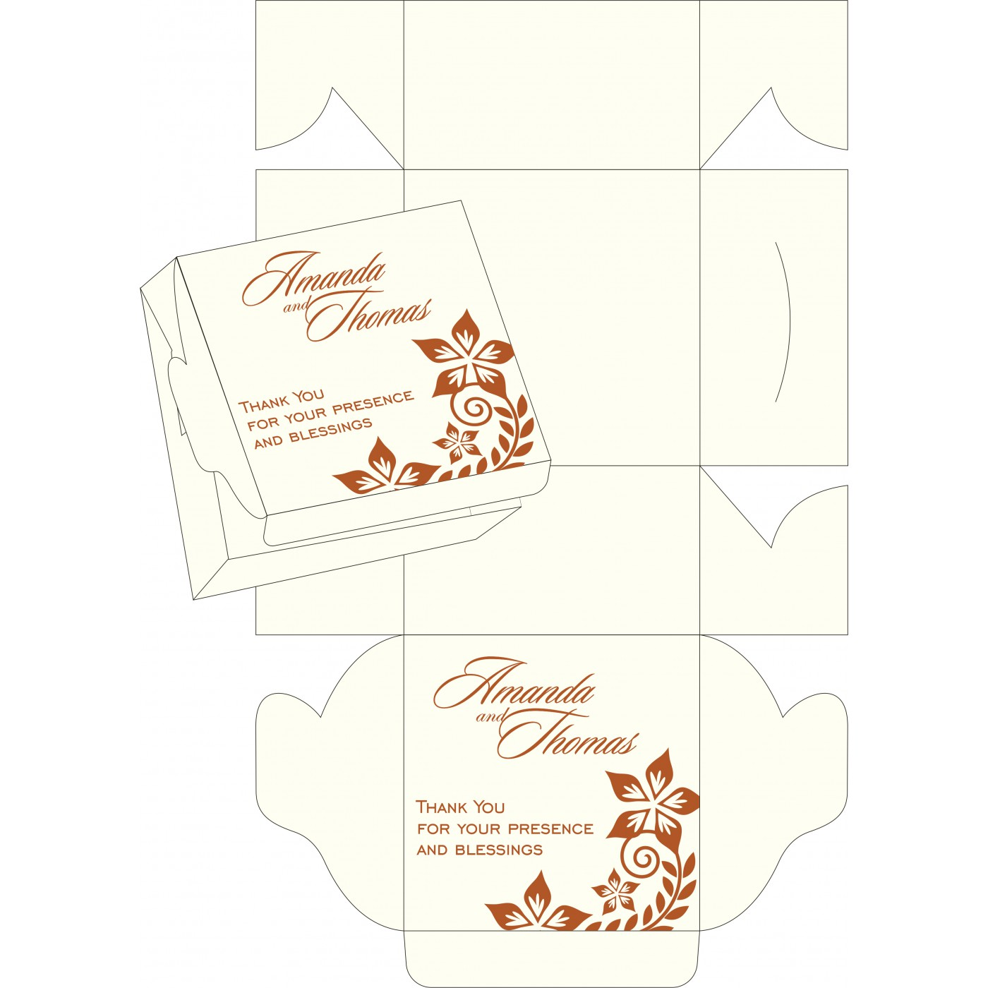 Cake Sweet Boxes : SB-8240M - 123WeddingCards