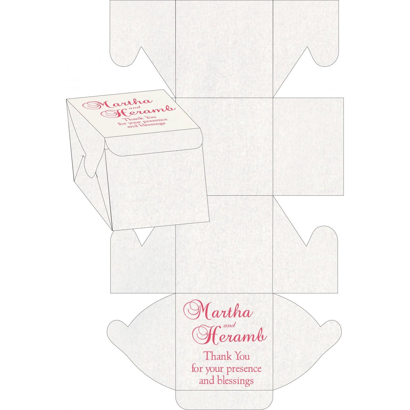Cake Sweet Boxes : SB-8241C - 123WeddingCards