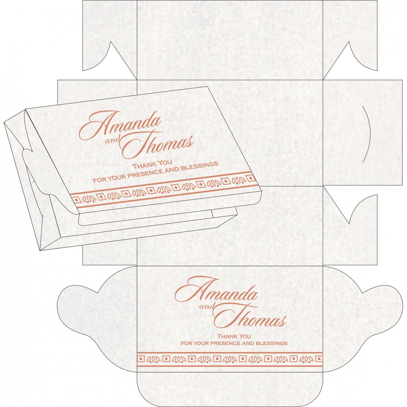 Cake Sweet Boxes : SB-8241G - 123WeddingCards