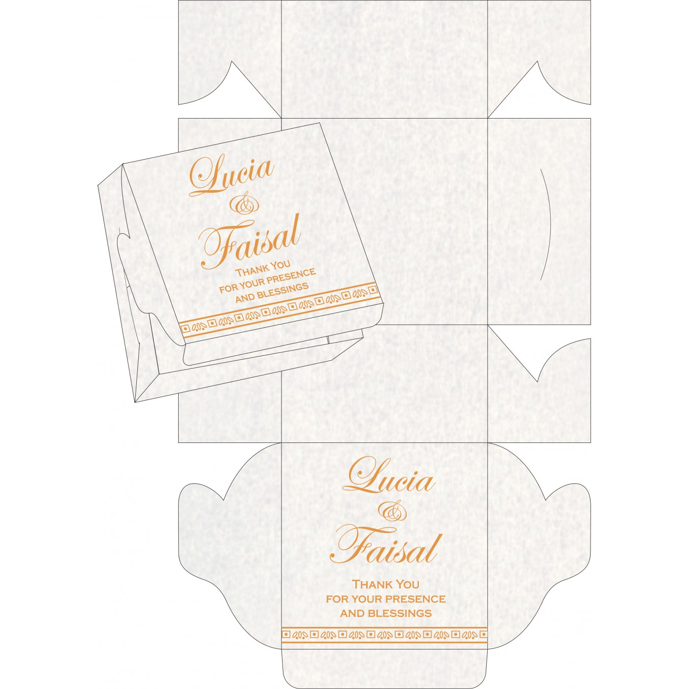 Cake Sweet Boxes : SB-8241H - 123WeddingCards