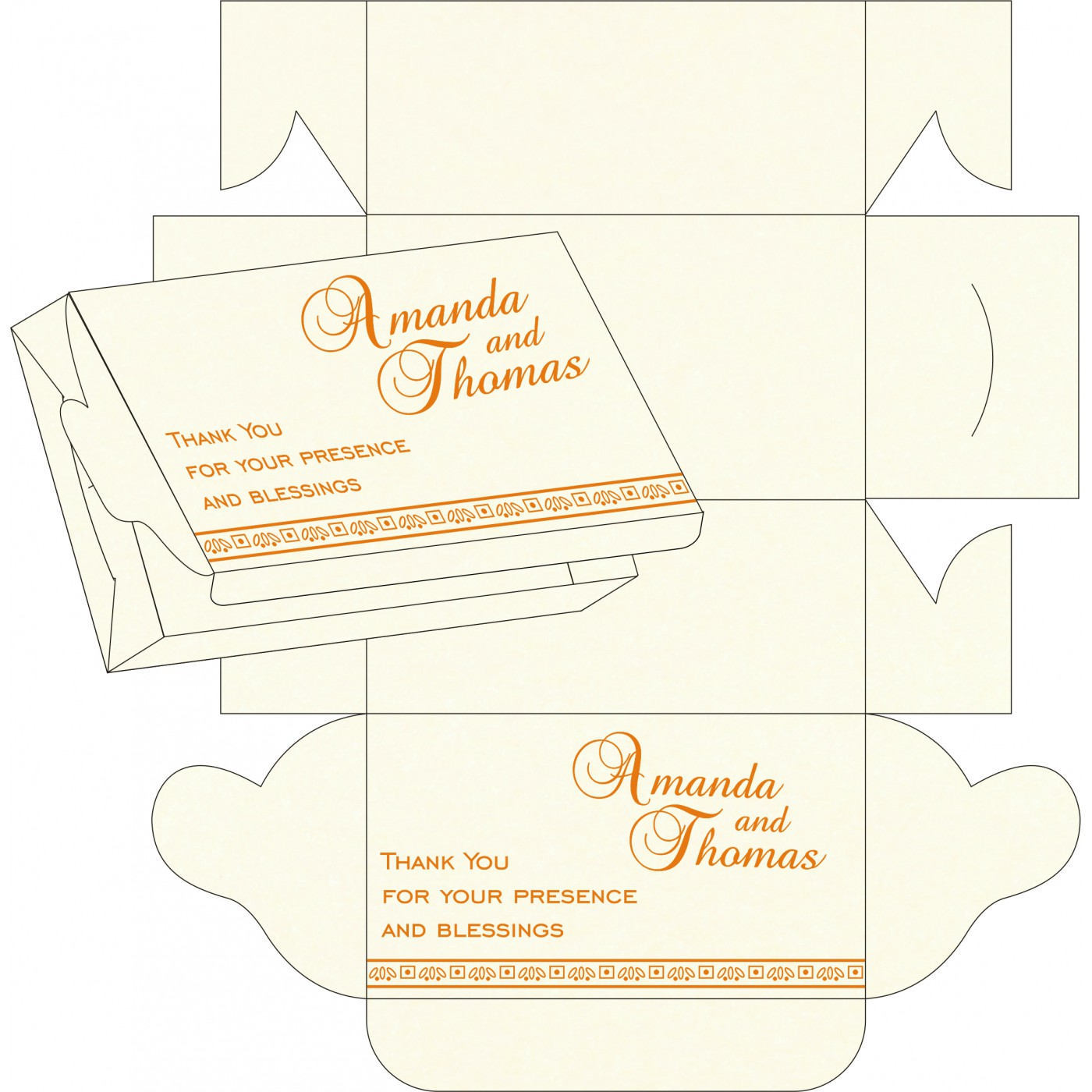 Cake Sweet Boxes : SB-8242Q - 123WeddingCards