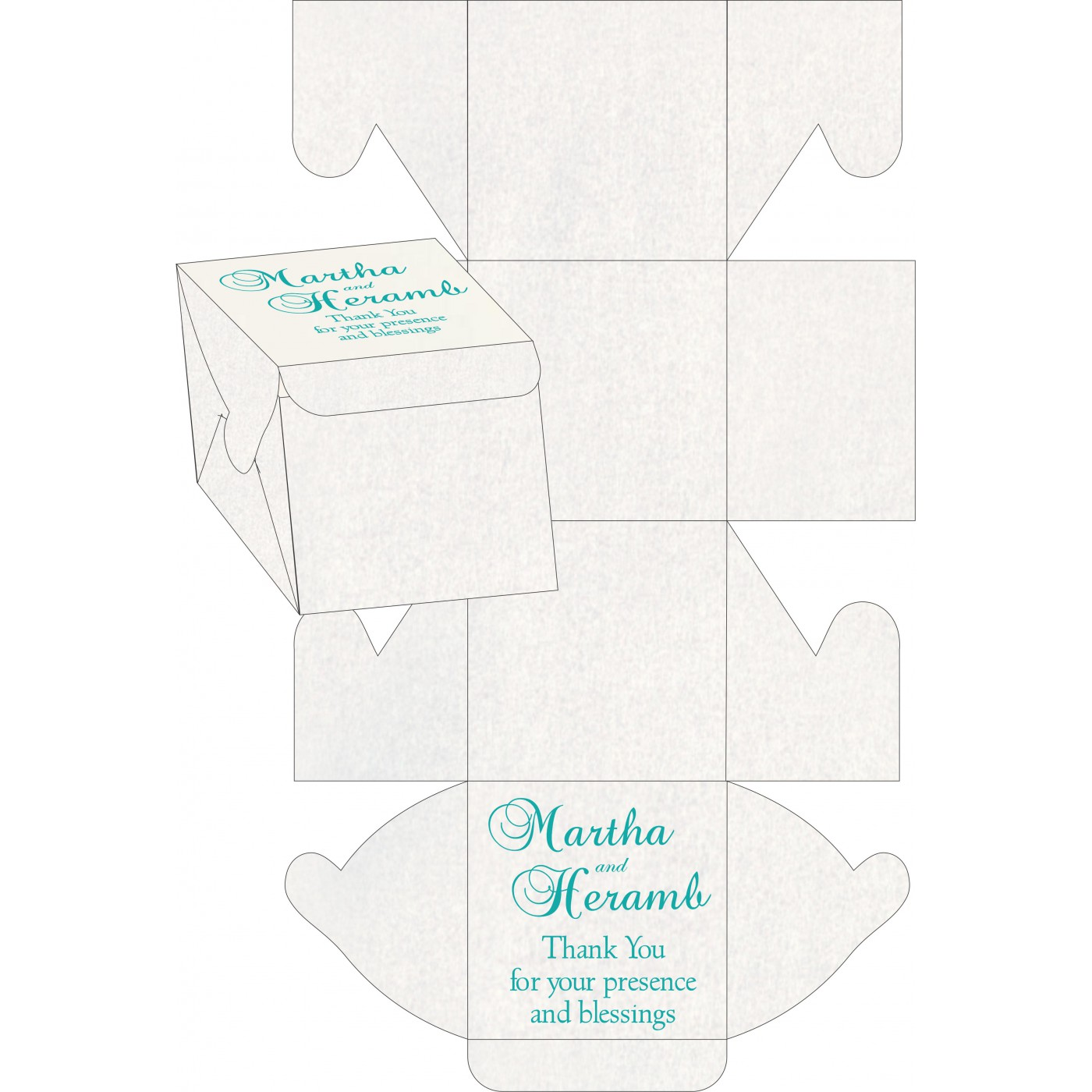 Cake Sweet Boxes : SB-8244C - 123WeddingCards