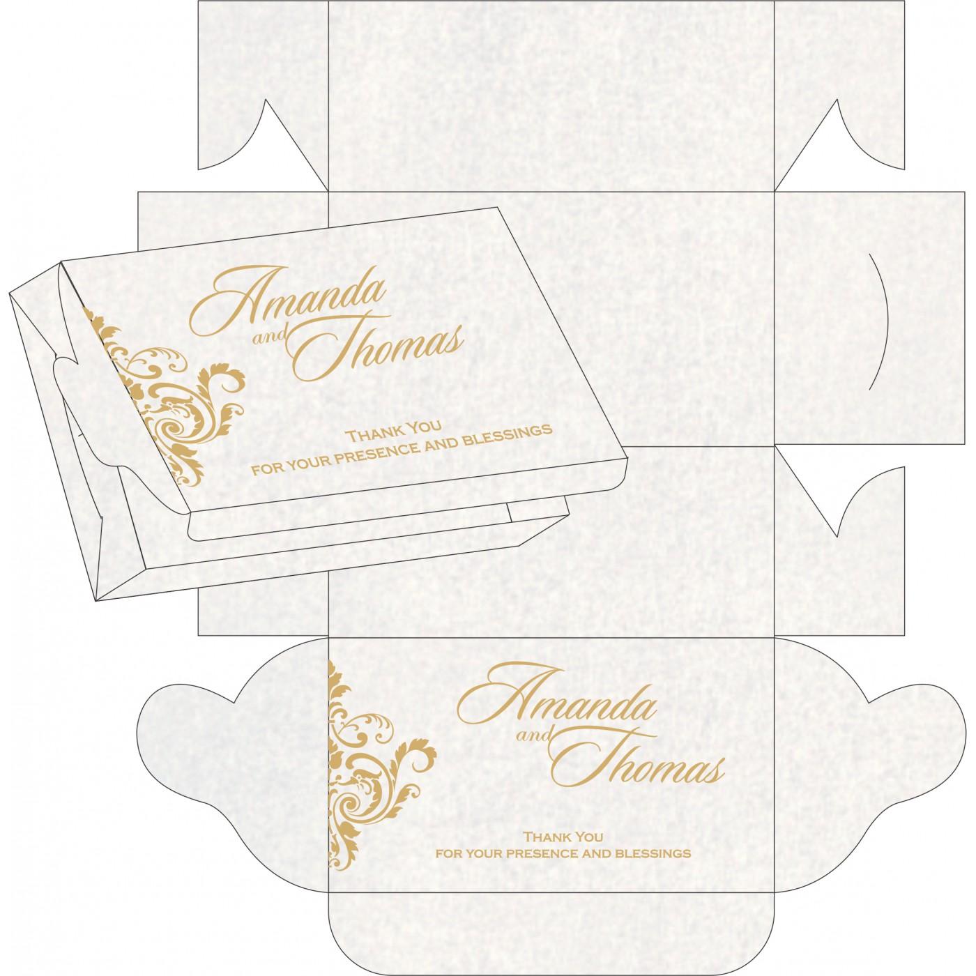 Cake Sweet Boxes : SB-8244H - 123WeddingCards