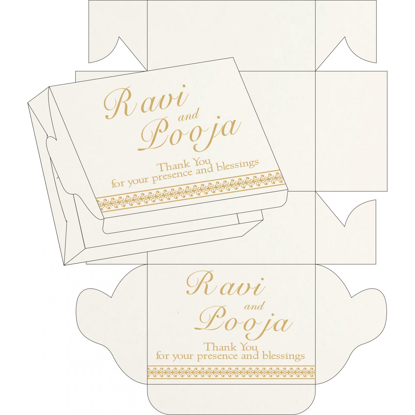 Cake Sweet Boxes : SB-8247M - 123WeddingCards