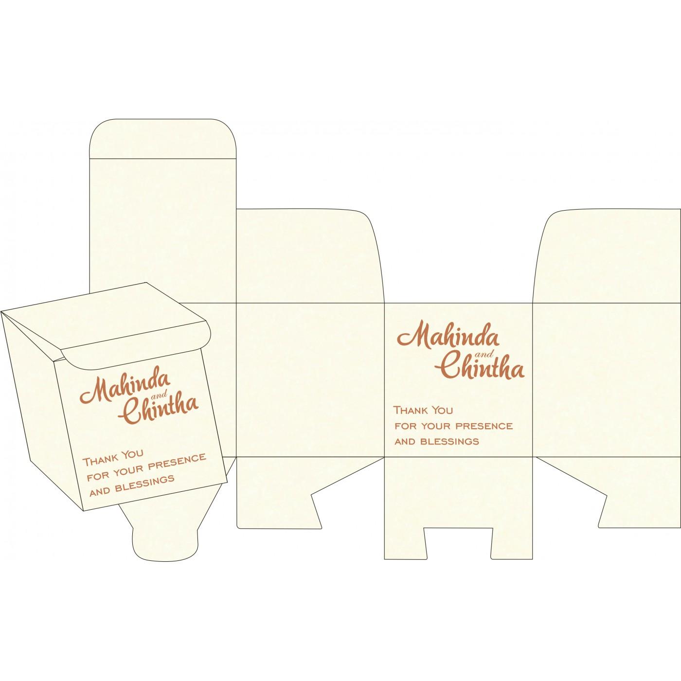 Cake Sweet Boxes : SB-8248E - 123WeddingCards