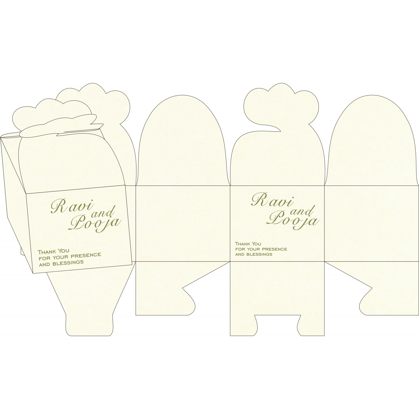 Cake Sweet Boxes : SB-8249E - 123WeddingCards