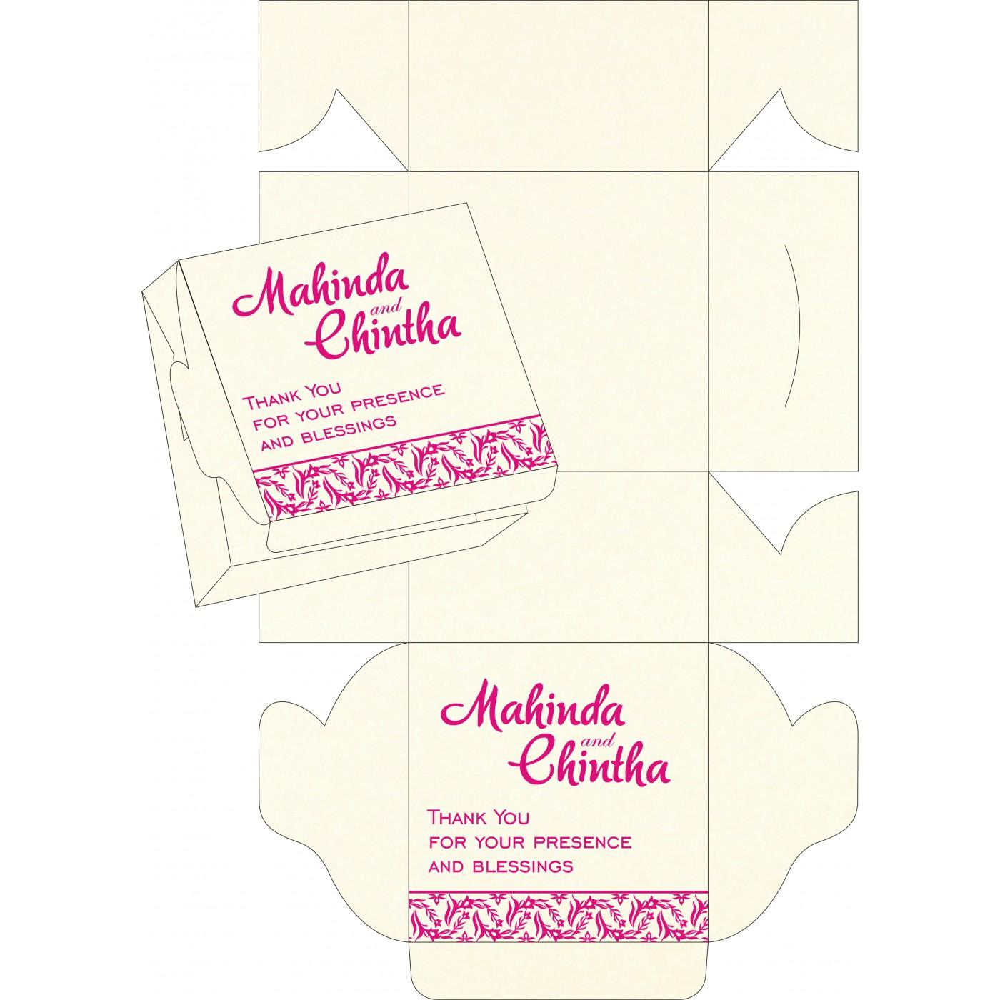 Cake Sweet Boxes : SB-8249K - 123WeddingCards