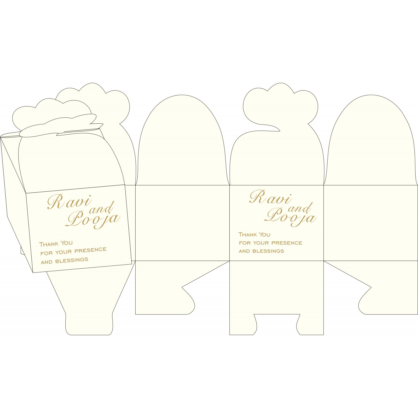 Cake Sweet Boxes : SB-8252D - 123WeddingCards