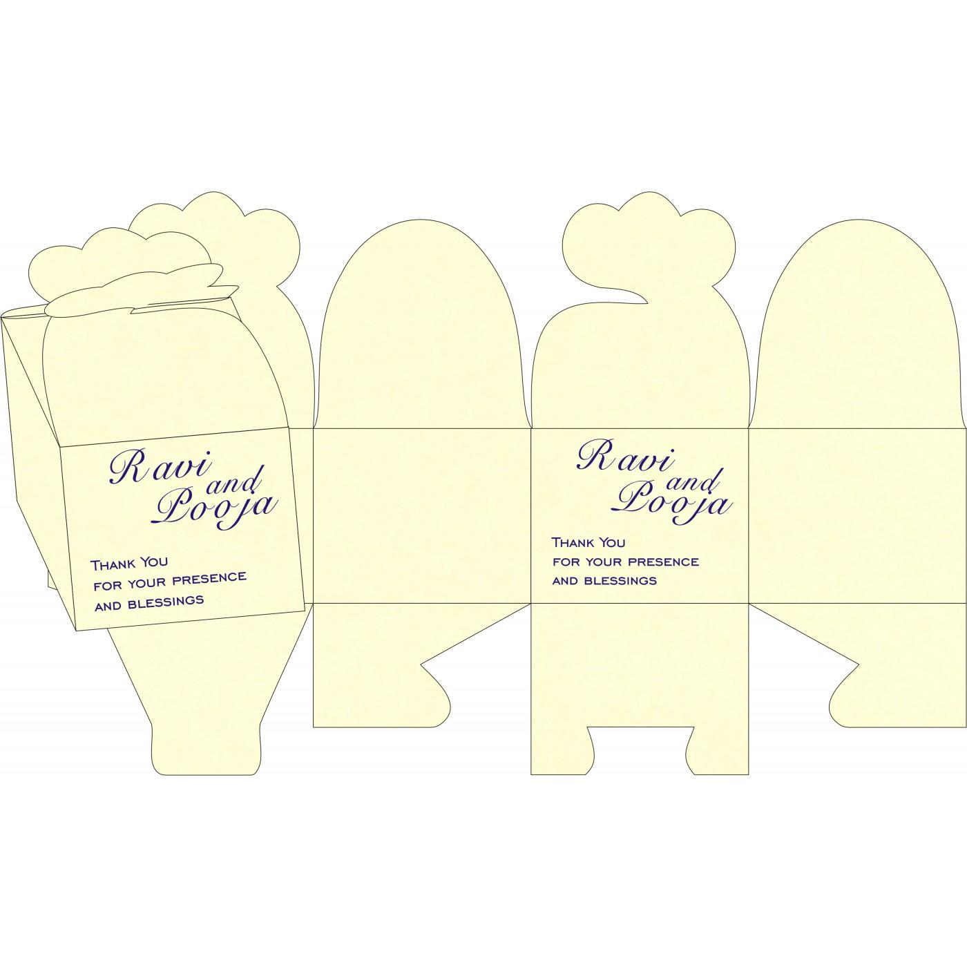 Cake Sweet Boxes : SB-8253D - 123WeddingCards