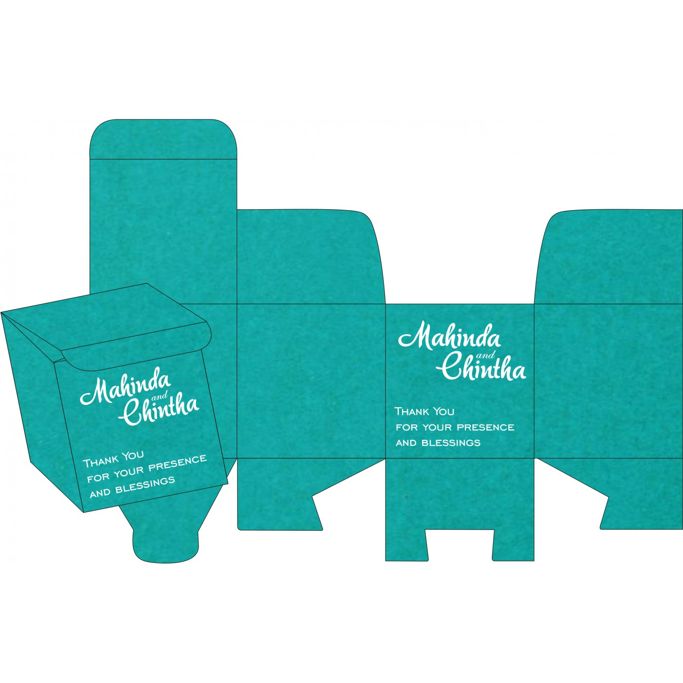 Cake Sweet Boxes : SB-8254E - 123WeddingCards