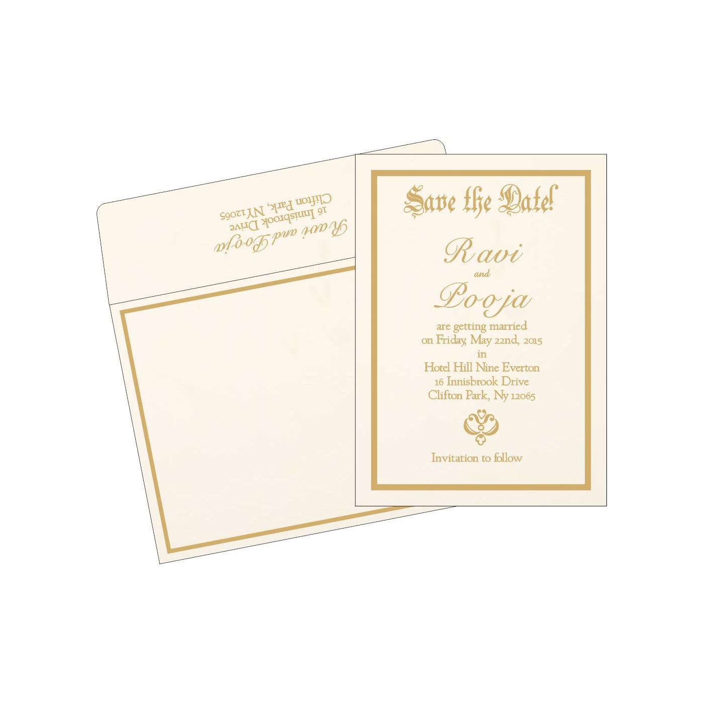 Save The Date Cards : STD-1144 - 123WeddingCards