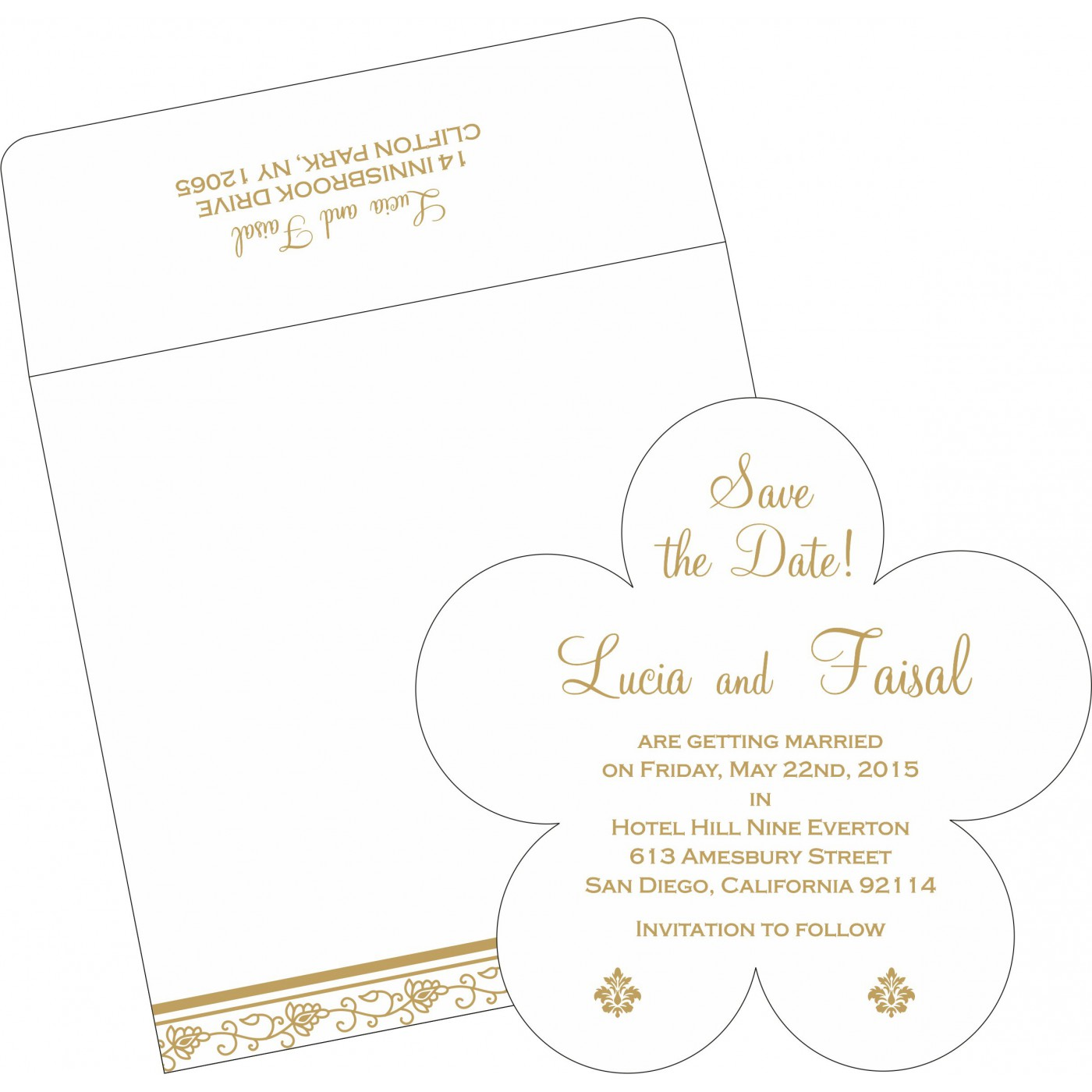 Save The Date Cards : STD-1171 - 123WeddingCards