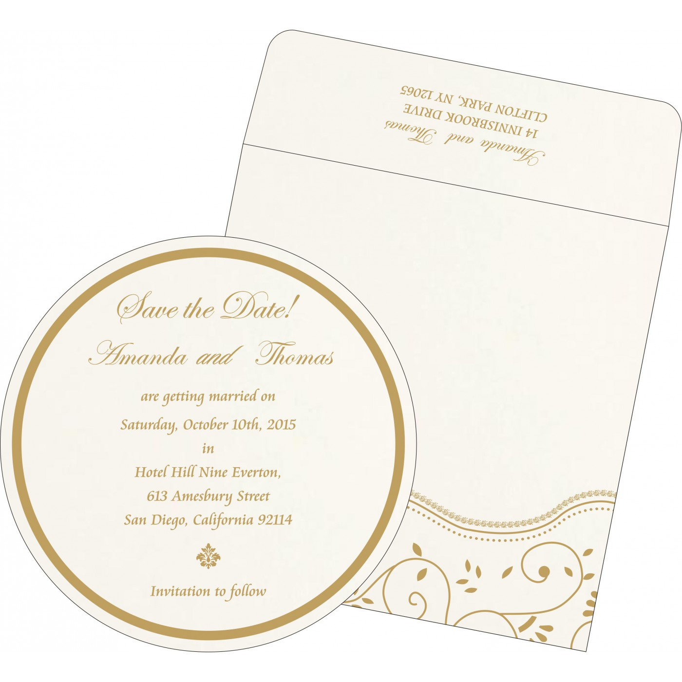 Save The Date Cards : STD-1197 - 123WeddingCards