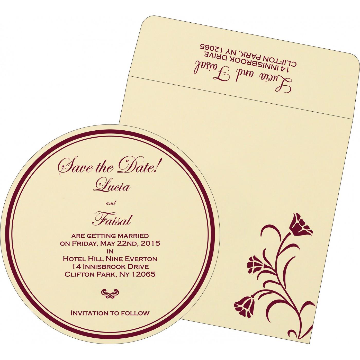 Save The Date Cards : STD-1203 - 123WeddingCards