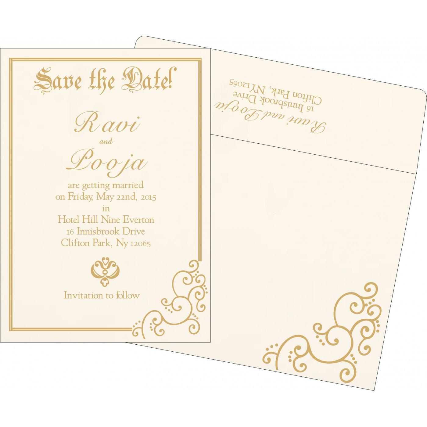 Save The Date Cards : STD-1236 - 123WeddingCards