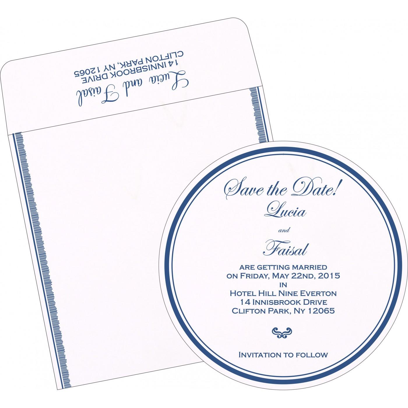 Save The Date Cards : STD-1277 - 123WeddingCards