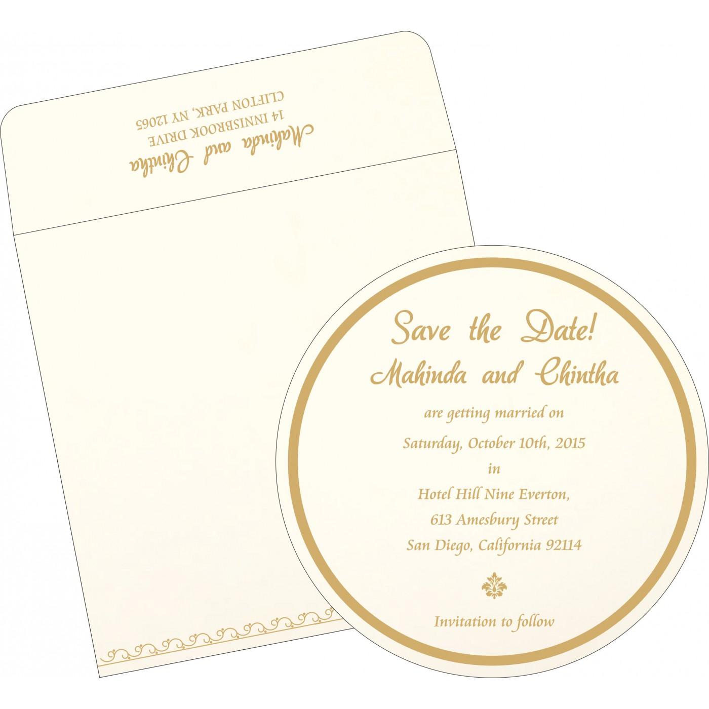 Save The Date Cards : STD-1351 - 123WeddingCards