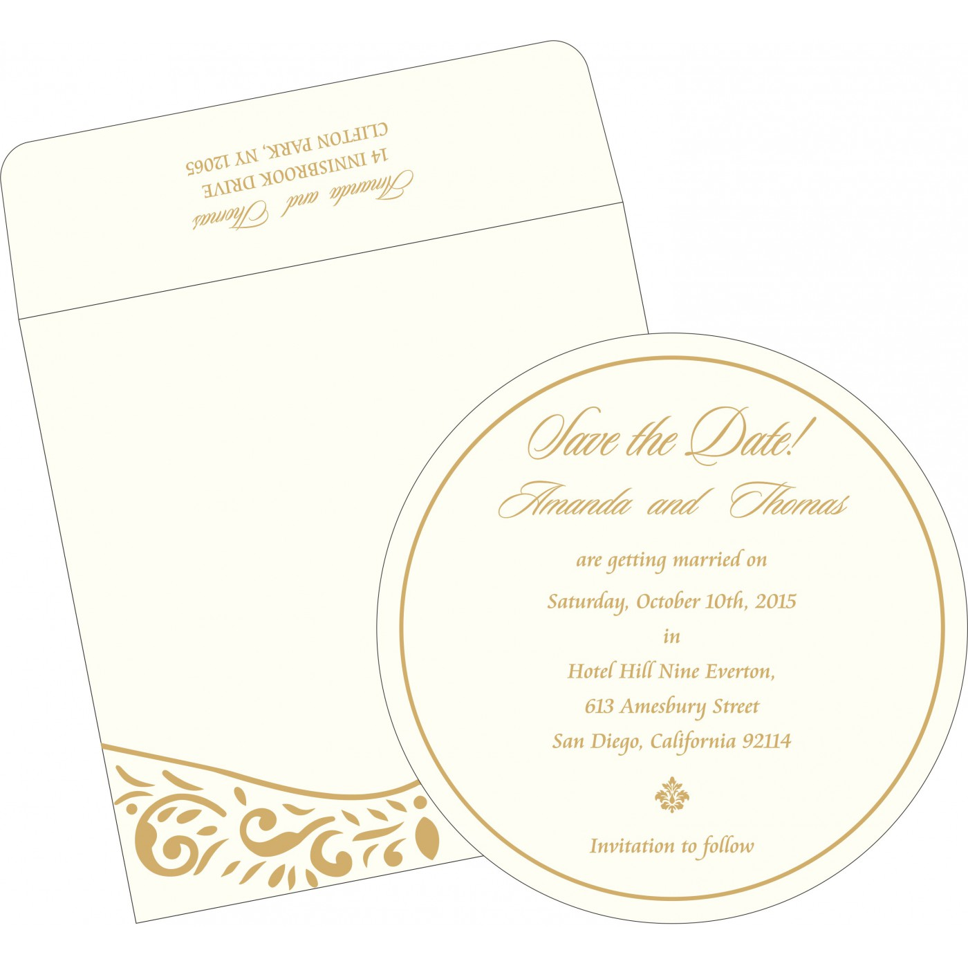 Save The Date Cards : STD-1367 - 123WeddingCards