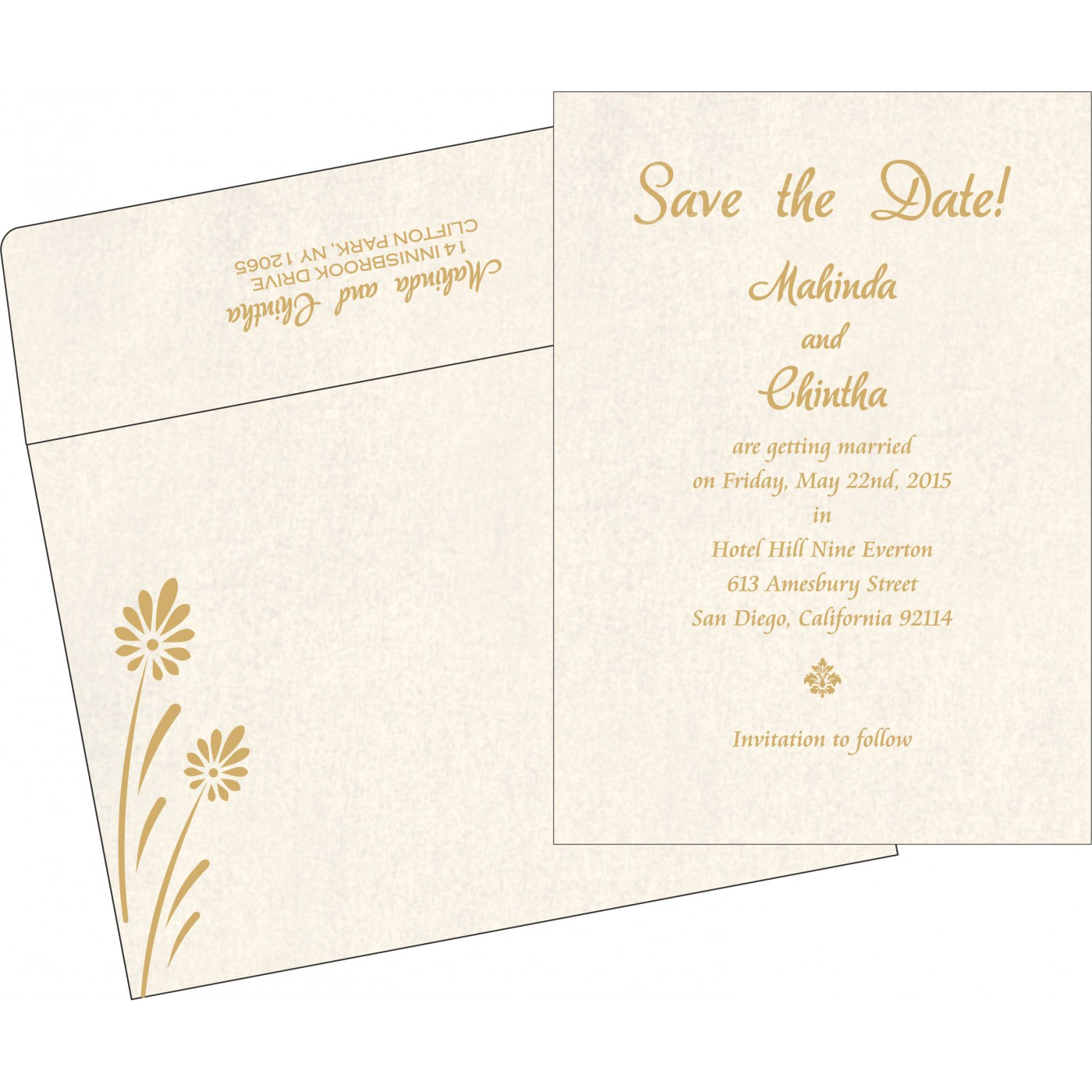 Save The Date Cards : STD-1372 - 123WeddingCards