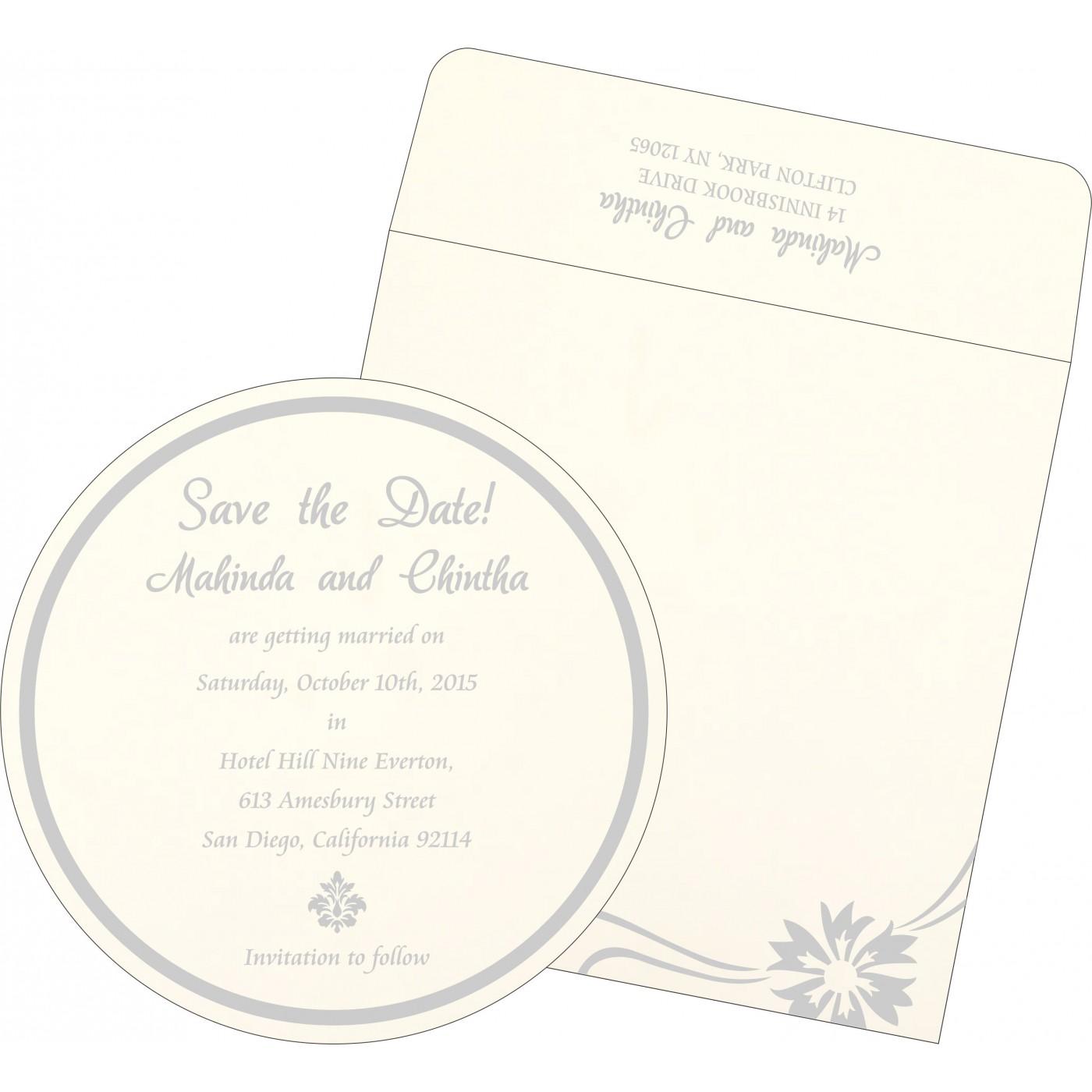 Save The Date Cards : STD-1380 - 123WeddingCards