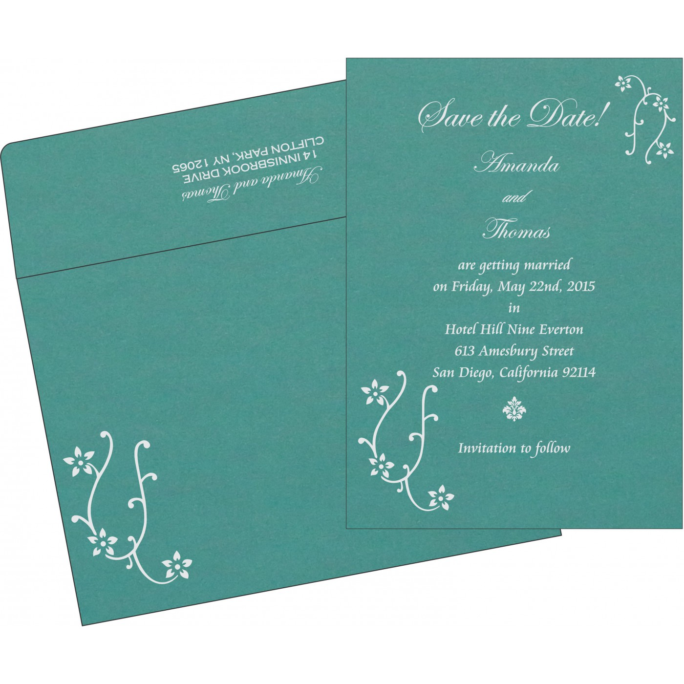 Save The Date Cards : STD-1400 - 123WeddingCards