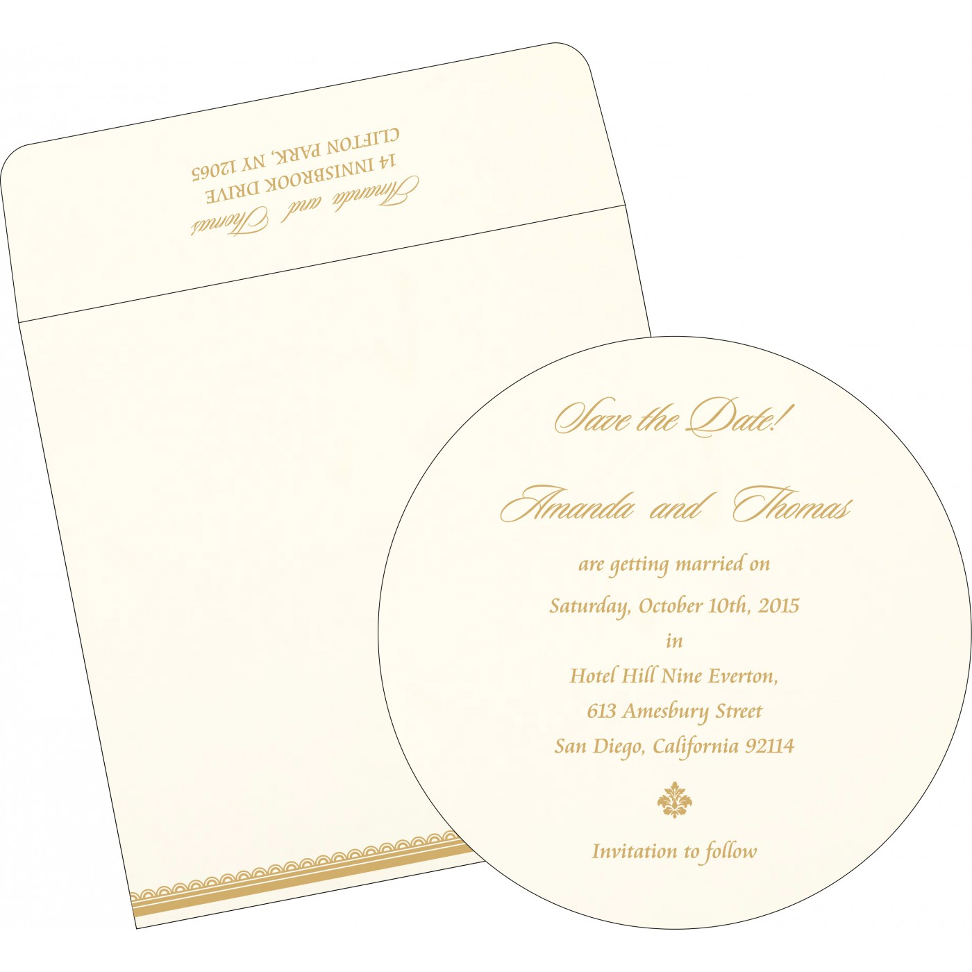 Save The Date Cards : STD-1402 - 123WeddingCards
