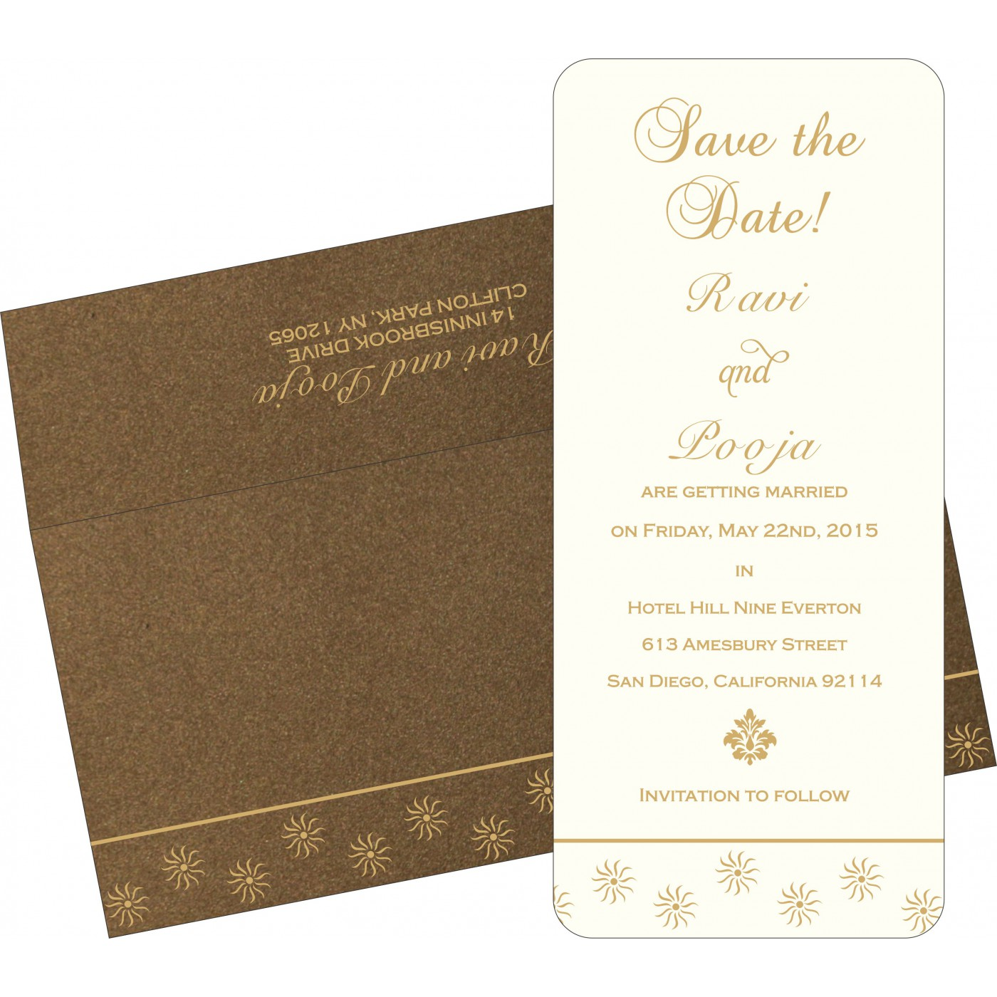Save The Date Cards : STD-1405 - 123WeddingCards