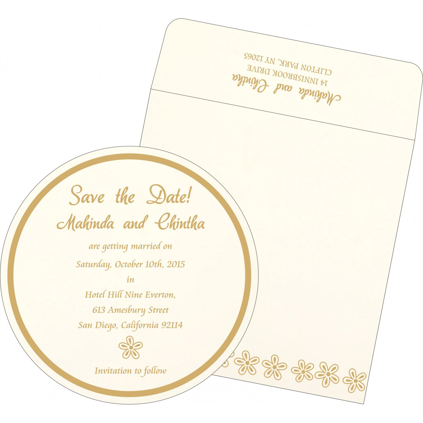 Save The Date Cards : STD-1439 - 123WeddingCards