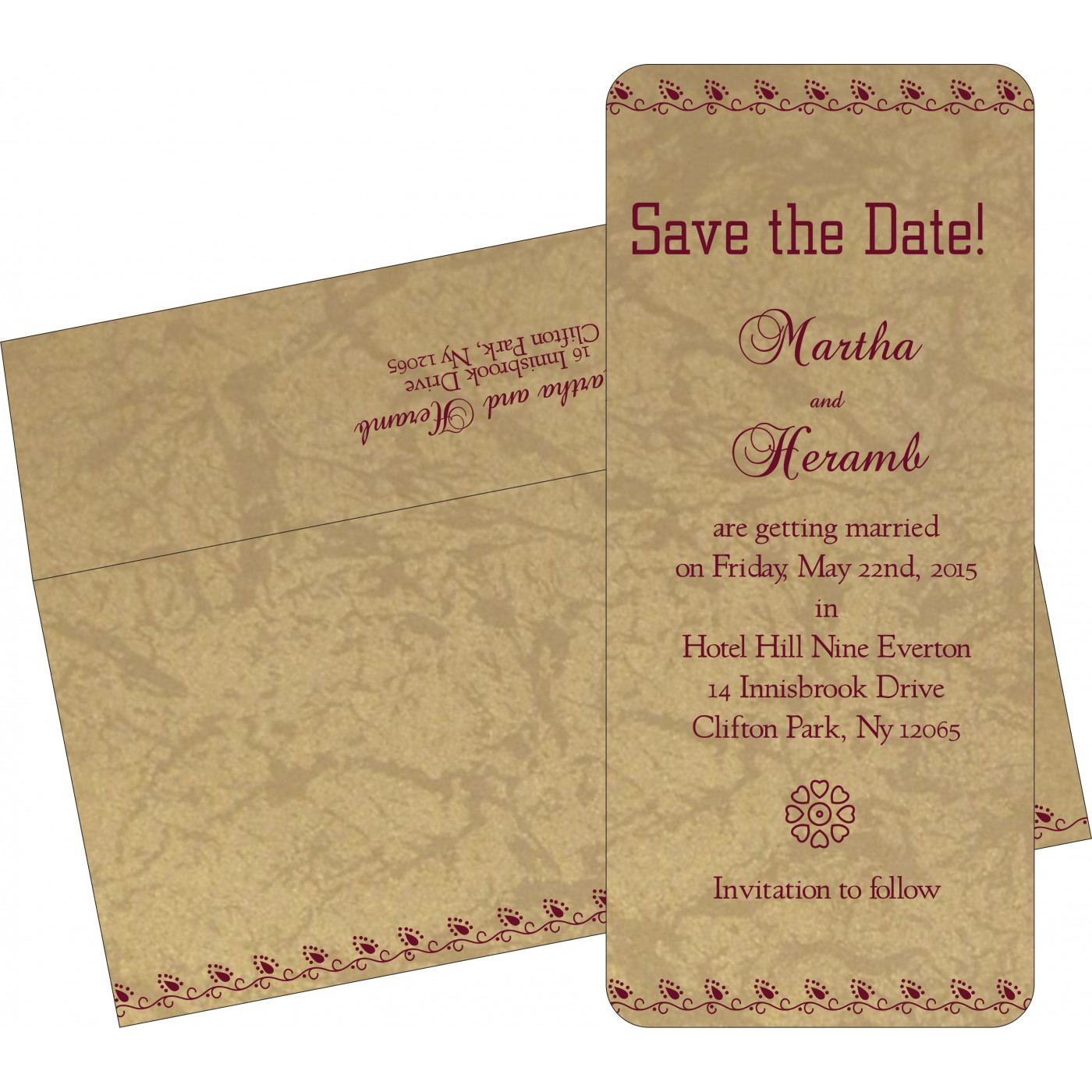 Save The Date Cards : STD-1440 - 123WeddingCards