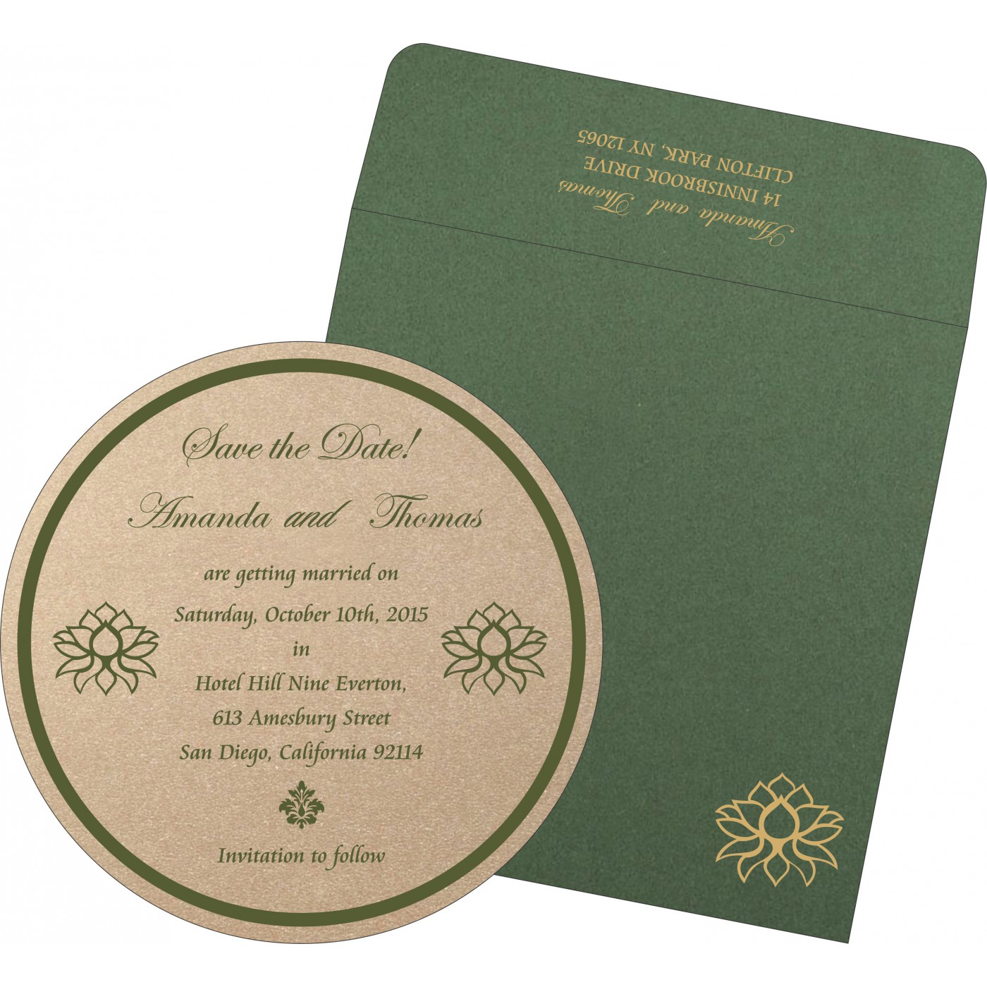 Save The Date Cards : STD-1449 - 123WeddingCards