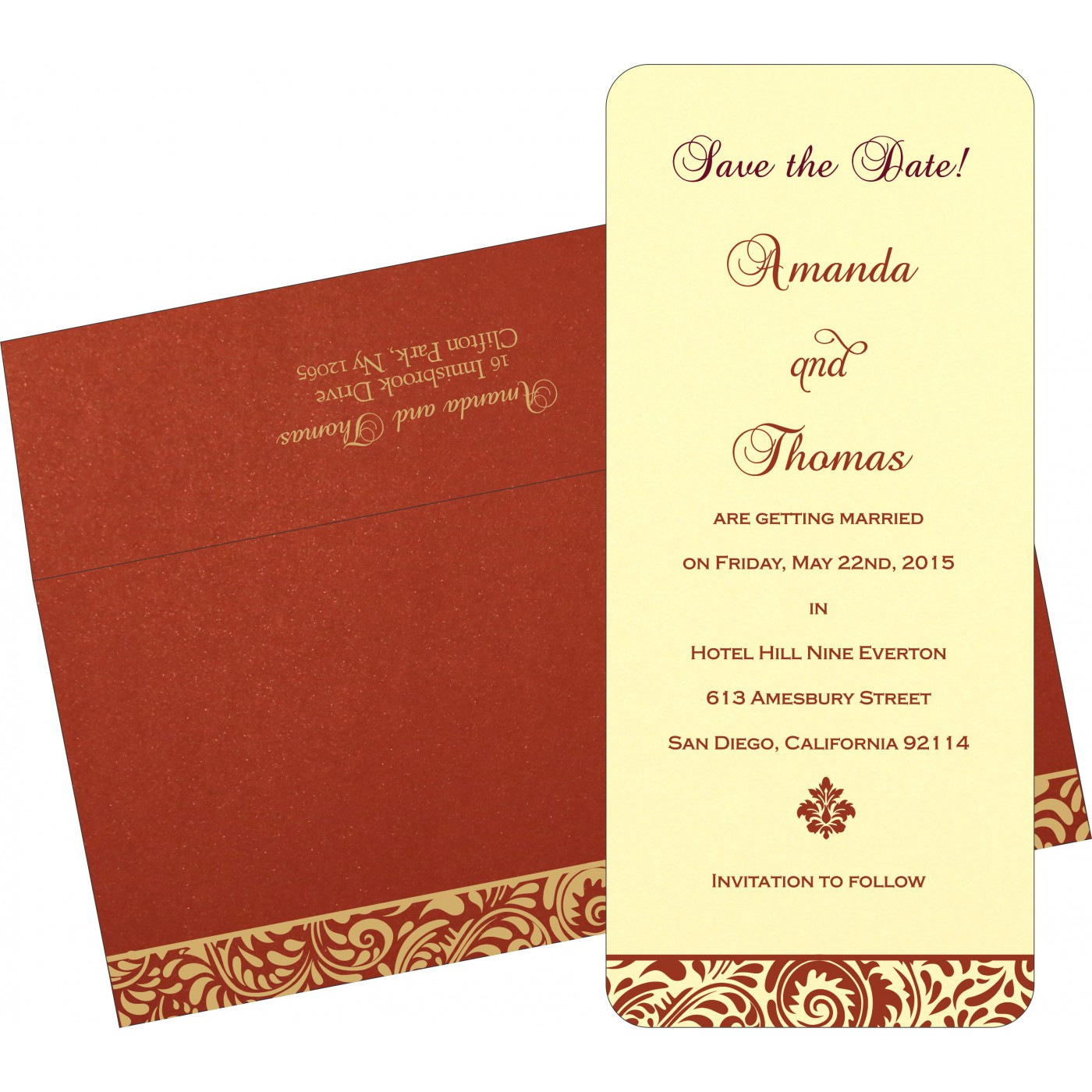 Save The Date Cards : STD-1471 - 123WeddingCards