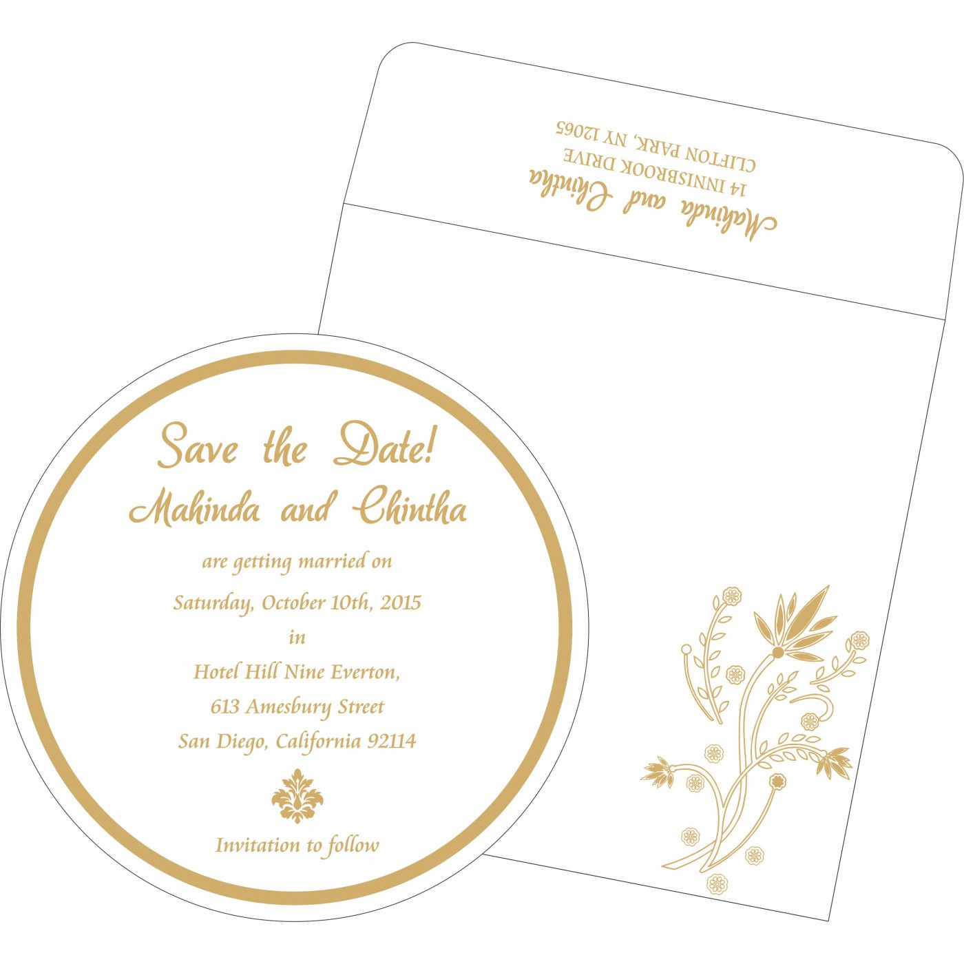 Save The Date Cards : STD-1495 - 123WeddingCards