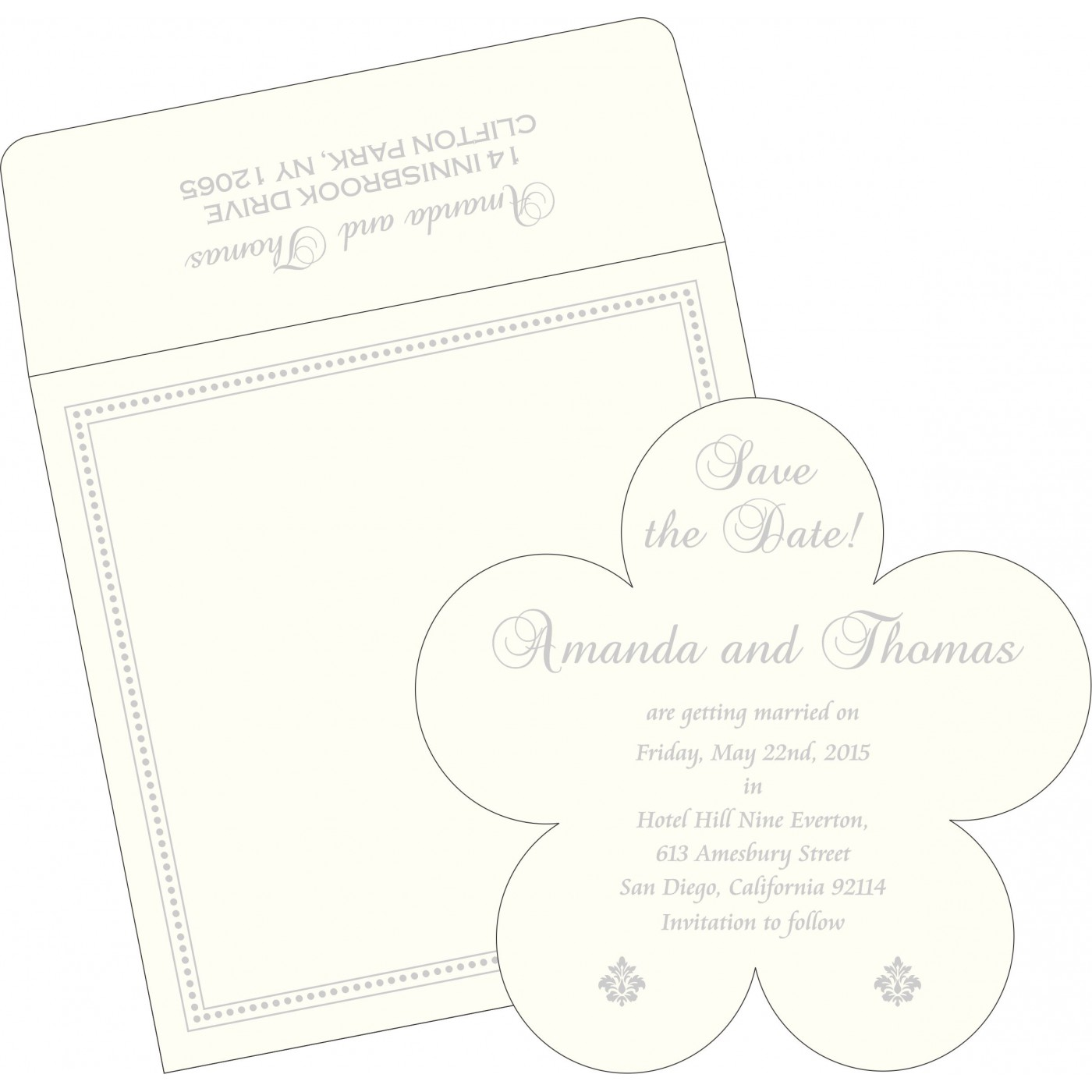 Save The Date Cards : STD-2015 - 123WeddingCards