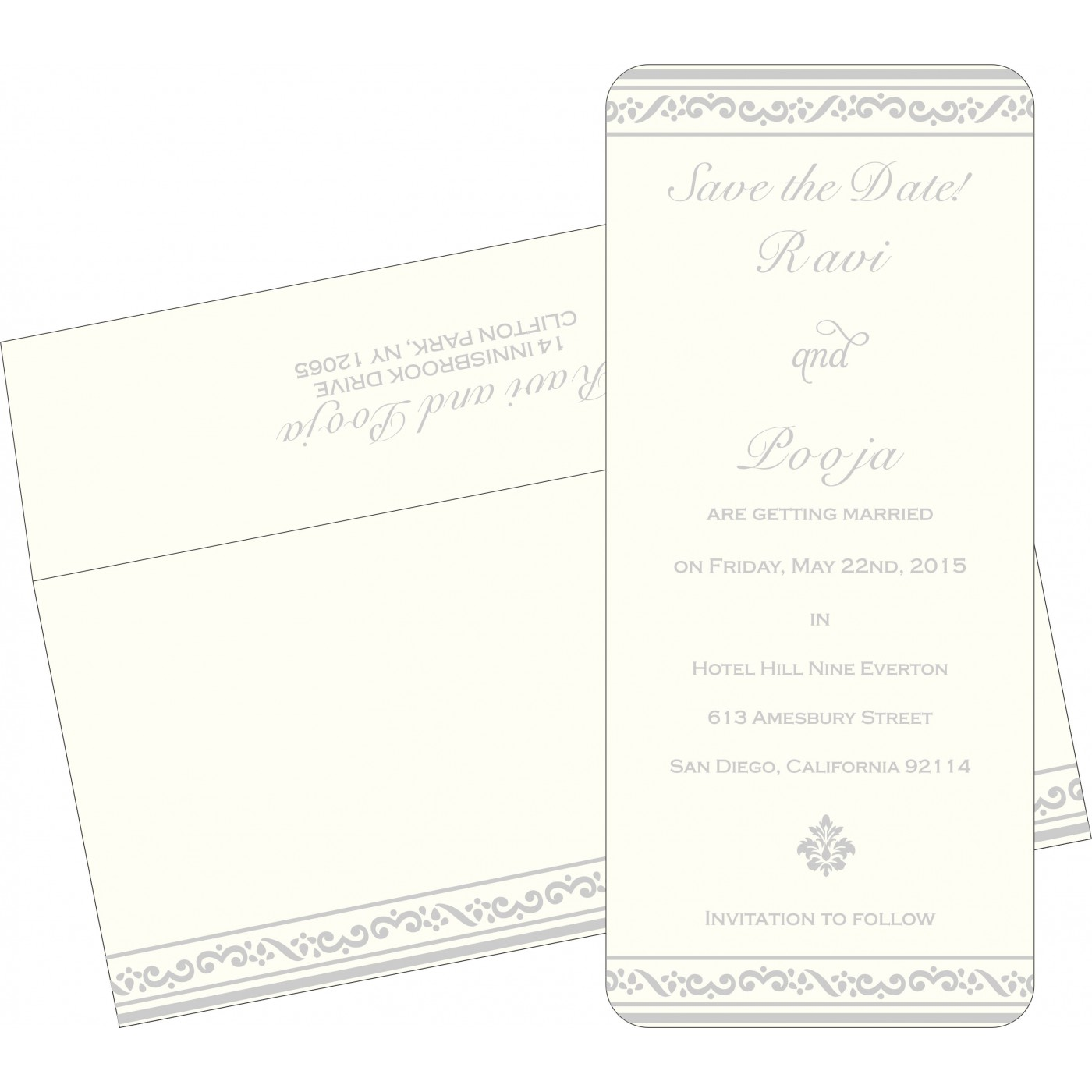 Save The Date Cards : STD-2016 - 123WeddingCards