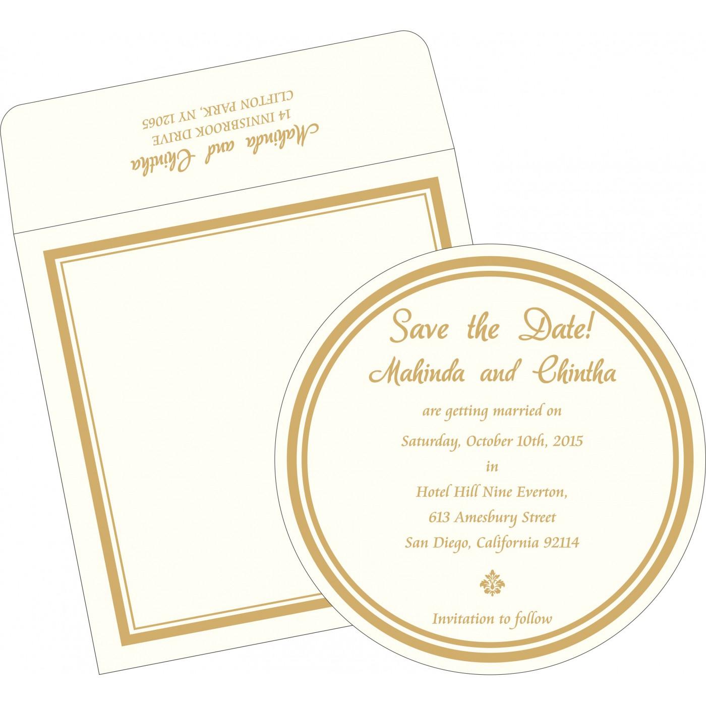 Save The Date Cards : STD-2076 - 123WeddingCards