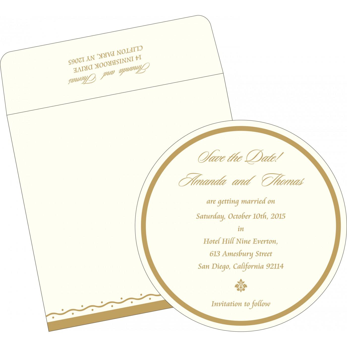 Save The Date Cards : STD-2103 - 123WeddingCards