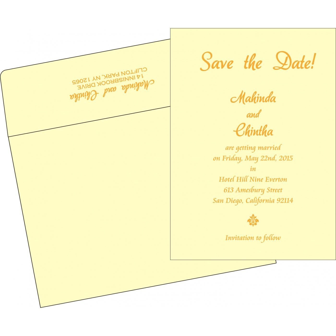 Save The Date Cards : STD-2111 - 123WeddingCards