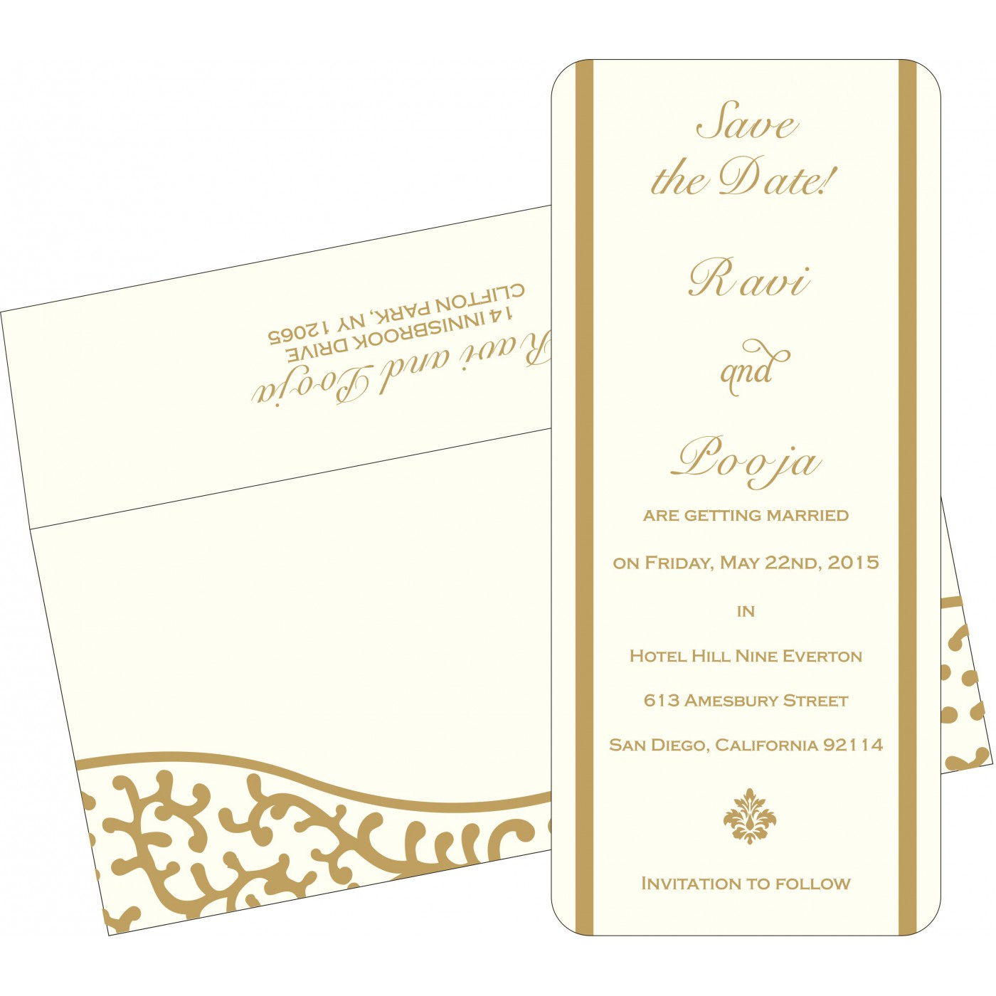 Save The Date Cards : STD-2151 - 123WeddingCards