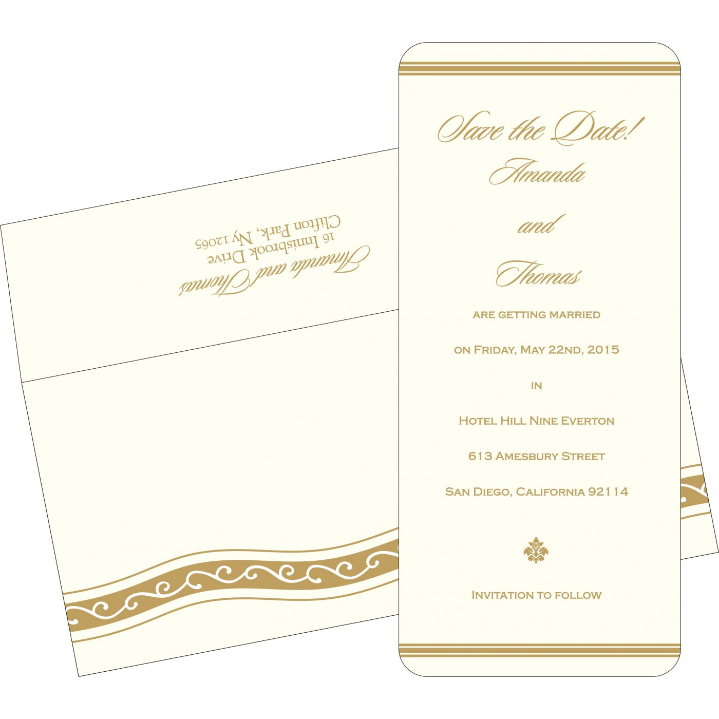 Save The Date Cards : STD-2169 - 123WeddingCards