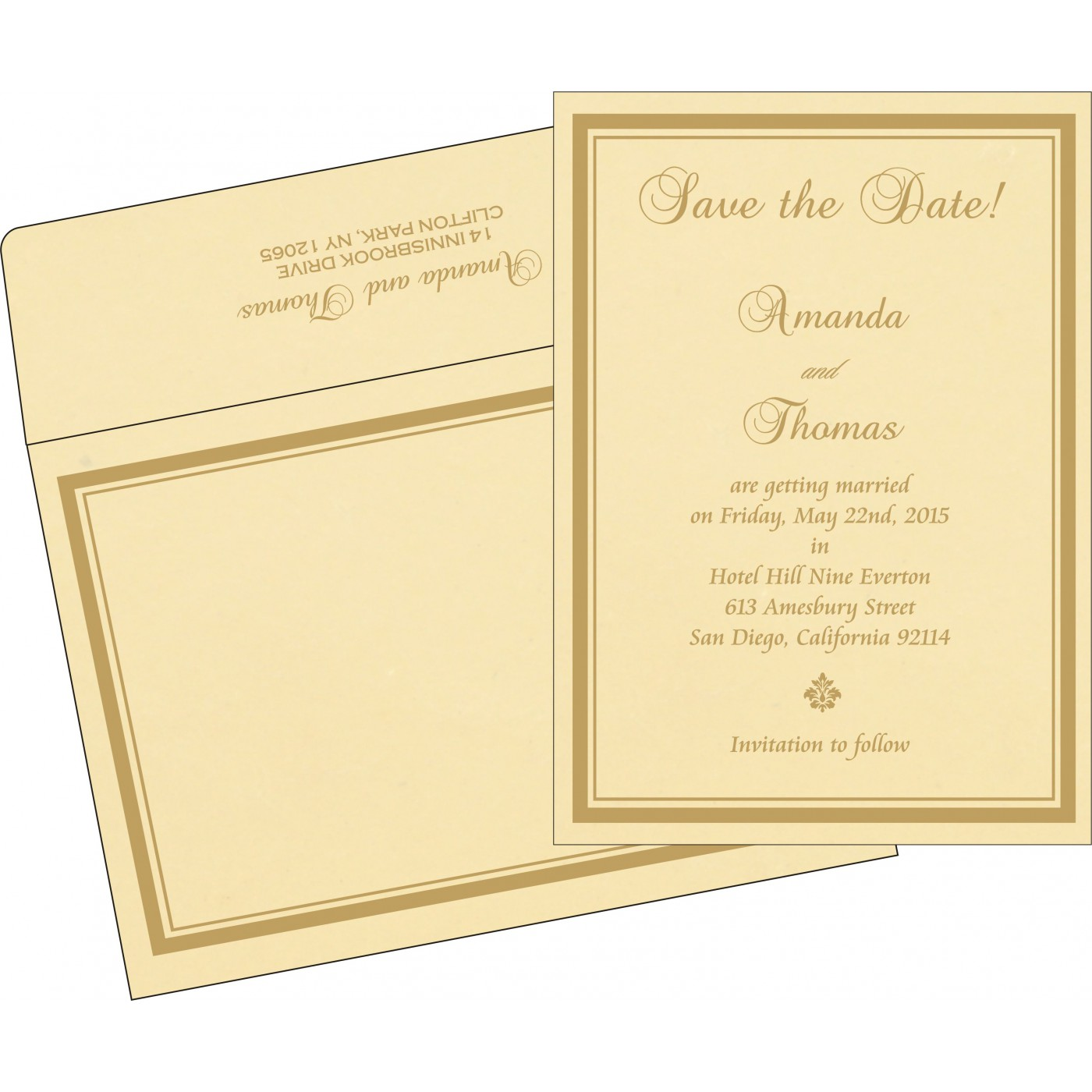 Save The Date Cards : STD-2177 - 123WeddingCards