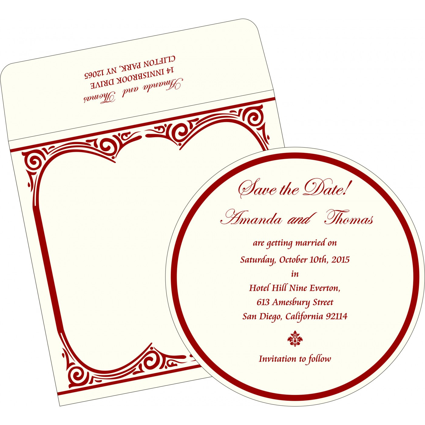 Save The Date Cards : STD-2207 - 123WeddingCards