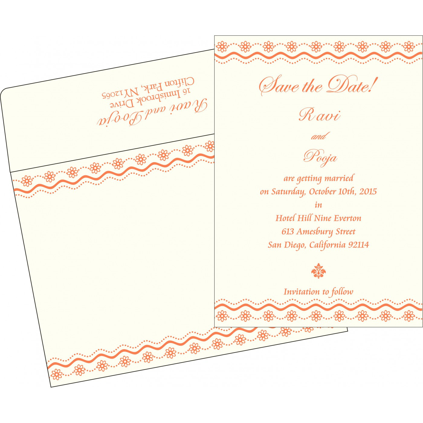 Save The Date Cards : STD-2214 - 123WeddingCards